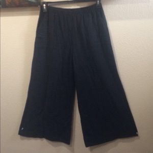 Final Touch Linen Look Wide Flared Pants size M